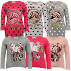 Girls Top Kids Rose Horse Print T Shirt  Polka Dot Long Sleeved Butterfly Party