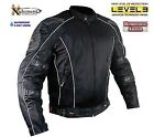 Xelement Men's Black Mesh Armored Jacket with Breathable 3 Way Lining