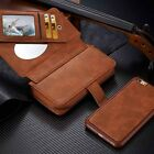 Leather Zipper Wallet  Slot Stand Bag Phone Cover Case For iPhone5 6 6S 7 7 plus