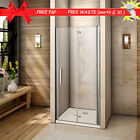 Aica Frameless BiFold Shower Door Enclosure Tray Save Space 700/760/800/900/1000