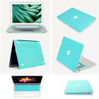 "Mint Blue Rubberized Matte Hard Case Cover For Macbook Pro13""15""Touch Bar/Retina"