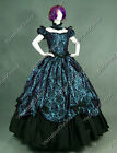 Southern Belle Victorian Brocade Masquerade Dress Ball Gown Theatre Clothing 323