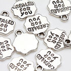 10/20Pcs Tibet Silver Charms Necklace Pendants Bracelet Jewelry Findings Making