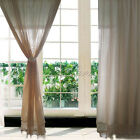 1 X Cotton Linen Curtain Living Room Living Room Office Hollow Out Crochet Panel