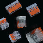 5pcs 2/3/5Way Reusable Spring Lever Terminal Block Electric Cable Connector Wire