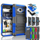 REFINED ARMOR COVER PHONE CASE+BELT CLIP HOLSTER FOR SAMSUNG GALAXY J3 Sky 2016