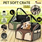 Pet Soft Crate Portable Dog Cat Carrier Cage Car Booster Seat Travel Carry Bag