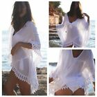 Summer Women Bathing Suit Sexy Lace Crochet Bikini Swimwear Cover Up Beach#Dress
