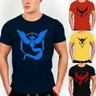 For POKEMON GO TEAM VALOR TEAM MYSTIC TEAM INSTINCT POKEBALL NERD TEE SHIRT