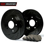 2001 2002 2003 GMC Sonoma 4WD (Black) Slot Drill Rotor Ceramic Pads F