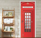 3D Telephone Box 2 Door Wall Mural Photo Wall Sticker Decal Wall AJ WALLPAPER AU