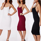 Women's Summer Stretchy Camisole Spaghetti Strap Cocktail Dresses Tops Dress New