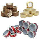 Heavy Duty Packing Tape - BROWN / CLEAR / FRAGILE 48mm x 66M Rolls Parcel Tape