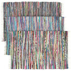 Royal Fiesta Chindi Area Rag Rug Colorful Striped Braided Recycled Fabric