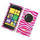 FOR Nokia Lumia 1020/ELVIS Rubberized Image Protector Case Cover Zebra Skin