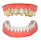 Open Face Custom Fit Grills 14k Gold Plated Top Bottom Hip Hop Teeth Grillz