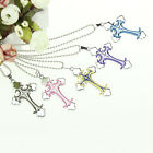 CHIC New Unisex's Men Stainless Steel Cross Necklace Pendant Chain Jewelry Gift