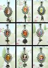DISNEY OVAL PENDANT NECKLACE AND CHARM EEYORE RAPUNZEL ARIEL MINNIE BAMBI BELLE