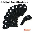 Golf Iron Club Covers Sleeve Zipper Protect x10pcs for Callaway Ping Taylormade