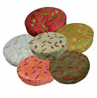 wh+6 Colors  Plant Leaf  3D Round Thick Cotton Seat Cushion Cover Custom Size