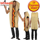 CA175 Giant Hot Dog Funny Food Sausage Fancy Halloween Mens Bucks Hens Costume