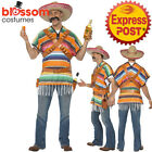 CA176 Mens Tequila Shooter Guy Mexican Funny Wild West Mexico Fancy Costume