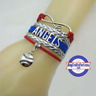 LOS ANGELES ANGELS Leather Woven Bracelet **FREE SHIPPING** on Ebay