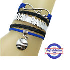 TAMPA BAY RAYS Leather Woven Infinity Bracelet **FREE SHIPPING** on Ebay