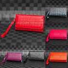 LUXURY CROCO PU Leather Wallet ID Purse Carrying Pouch Case For Smart Cell Phone