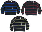 Polo Ralph Lauren Mens Lambs Wool Knit Striped Pony Logo Crewneck Sweater New