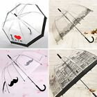 Hot Ladies Umbrellas Transparent Birdcage Umbrella Stick  Creative Umbrellas