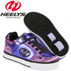 Heelys X2 Thunder Roller Skate Trainers Purple Dual Wheel Shoes Ninja Star Grip