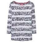 Brand New Joules Harbour Print Jersey Top - Colour Navy Mara Ditsy Stripe