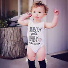 White Newborn Infant Kids Baby Boy Girl Romper Jumpsuit Bodysuit Outfit Clothes