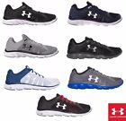 Under Armour Mens Micro G Assert 6 Running Sneakers Shoes Black Navy Steel NEW