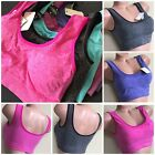 3 Bra 6 Recreation Bras Yoga Active Wear Workout Seamless TOP CAMI VIOLA 306 LOT S-2X