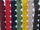 35mm COTTON FRINGED FAN BRAID Blind Lampshade Costume Upholstery Furnishing Trim