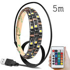 COLOUR 5V USB RGB 5050 60SMD/M LED Strip Light TV Back Lighting Kit+24Key Remote