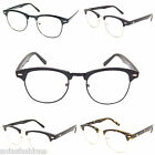 Clubmaster Style Clear Lens Glasses Vintage Retro Geek Nerd London Design