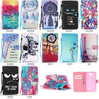 Fr Samsung Galaxy Phones Patterned Magnetic Flip Wallet Leather Stand Case Cover