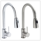 Modern Kitchen Sink Monobloc Mixer Taps Vessel Pull Out Tap Spray Pot Rinser UK