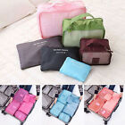 6xWaterproof Clothes Storage Bags Packing Cube Travel Luggage Organizer PouchLAU