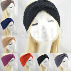 New women bowknit knitted solid crochet hairband headband Headwrap spring Band