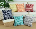 "18""X18"" CaliTime Cushion Covers Pillows Shell Stripe Geometric Print Home Decor"