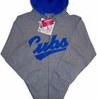 Chicago Cubs Majestic MLB Classic Full Zip Hoodie- Women's Plus Sizes - Gray-NWT