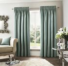 WOVEN EFFECT SILVER GREY BLACK PENCIL PLEAT CURTAINS 8 SIZES