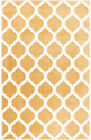 Ivory White Abstract Area Rug Contemporary Modern Trellis Pattern Carpet