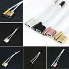 2in1 Portable 3.5mm Audio Headphone Adapter Charger Cable For iPhone 7/Plus