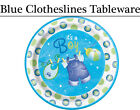Blue Clothesline Tableware - Plates, Napkins, Cups & Tablecover