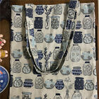 Handmade Cotton Linen Eco Shopping Tote Shoulder Bag Print Penzai Wishes BottleS
